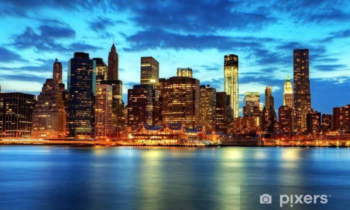 Fototapeta winylowa Skyline de Manhattan, Nowy Jork. - Tematy