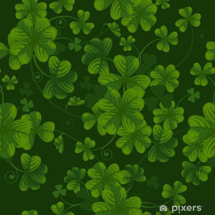 Poster Nahtlose Muster mit Klee - Hintergründe