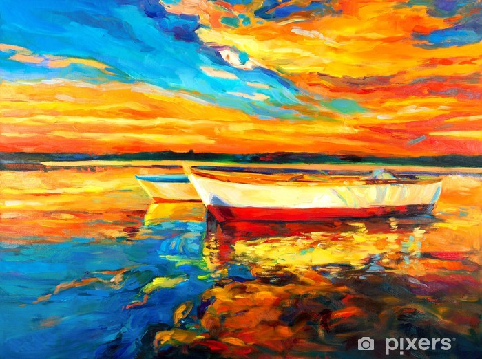 Boats Vinyl Wall Mural -