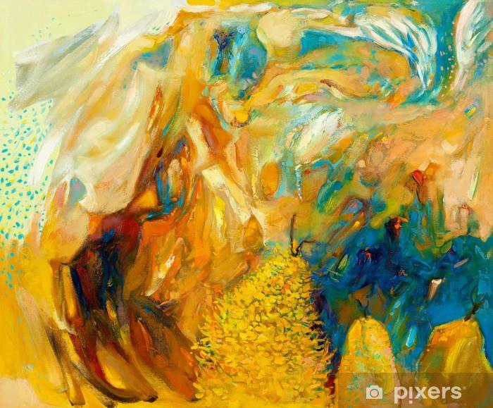 Naklejka Pixerstick Abstrakcyjny obraz olejny - Tematy