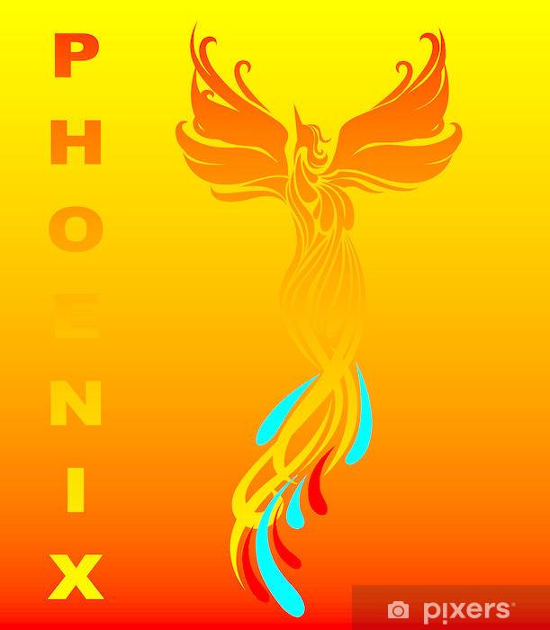 Mythical phoenix bird Vinyl Wall Mural - Backgrounds