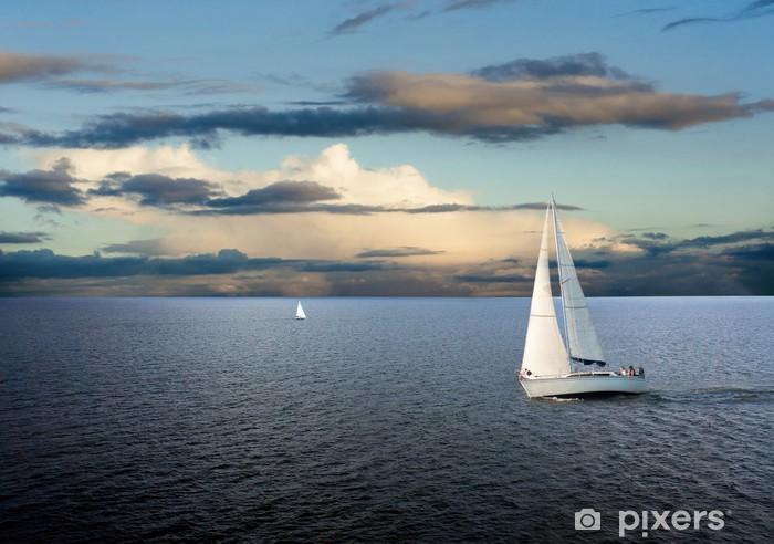Sail boat Pixerstick Sticker - Themes