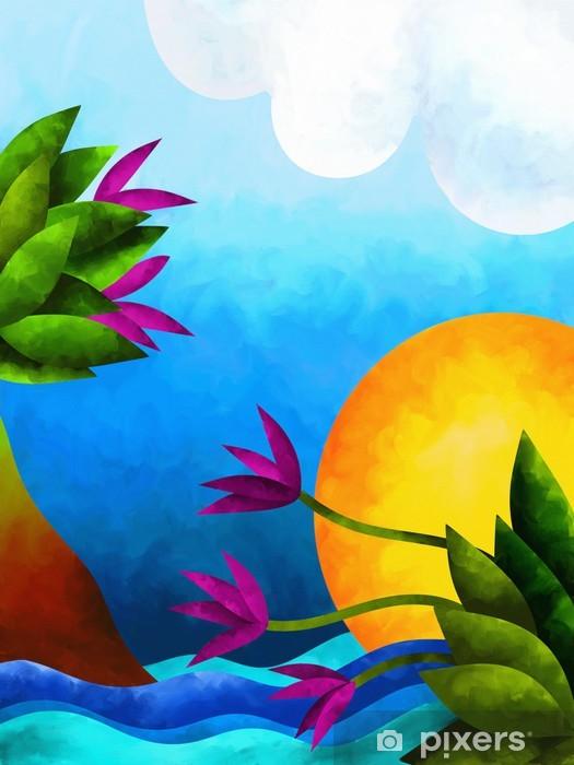 Sticker Pixerstick Paesaggio astratto - Merveilles naturelles