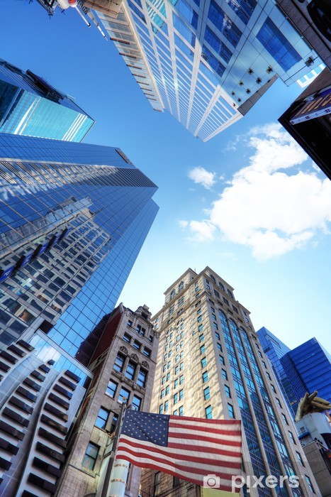 Vinyl-Fototapete New York et ses Gebäuden. - Amerikanische Städte
