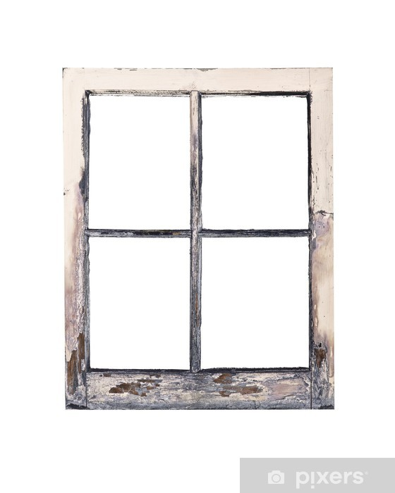 Old Rustic Window Frame Wall Mural Pixers We Live To Change
