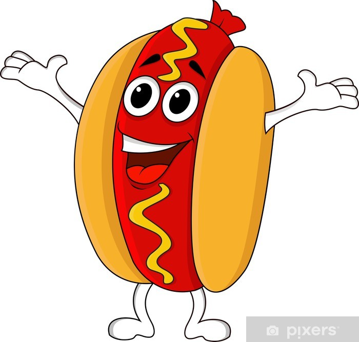 Hot Dog Cartoon Character Wall Mural Pixers We Live To Change