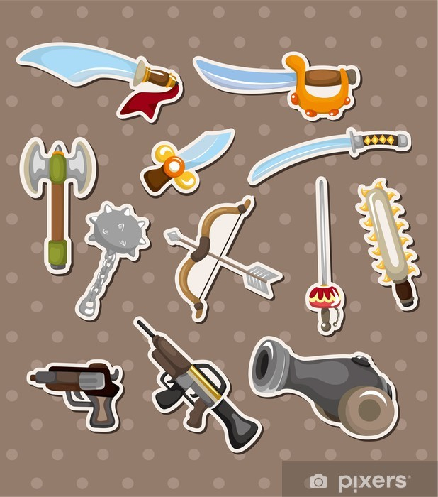 Sticker Pixerstick Autocollants d'armes - Signes et symboles