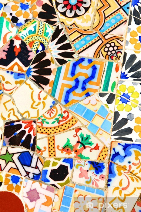 Sticker Pixerstick Mosaïque - Arrière plans