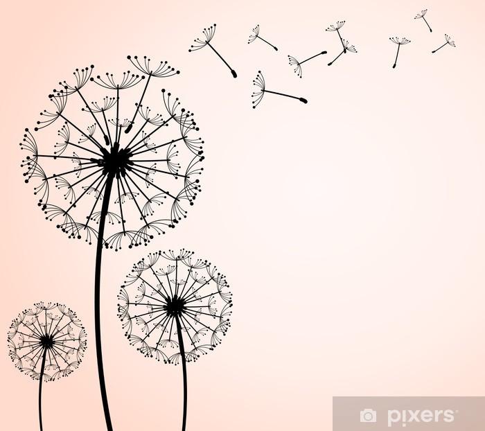Papier peint vinyle Pissenlit - Fleurs