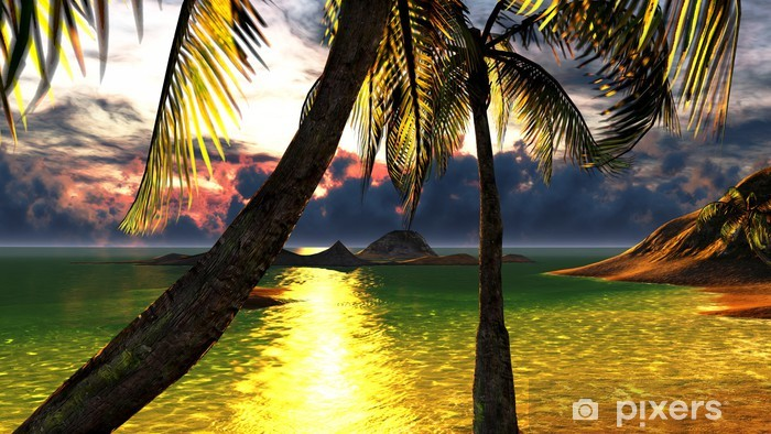 Vinyl-Fototapete Tropical beach paradise - Urlaub