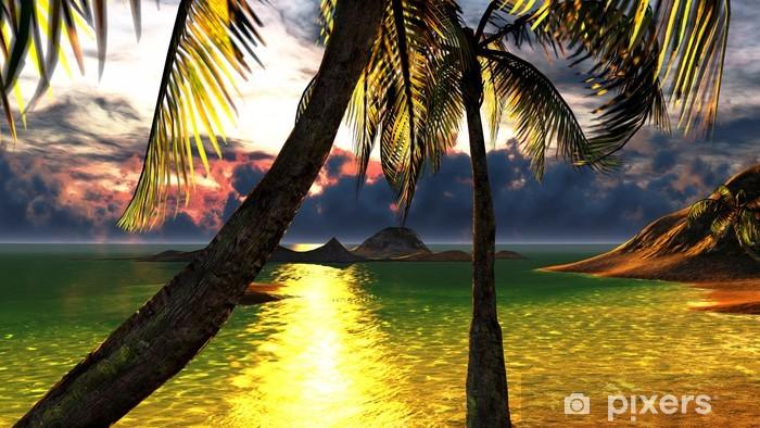 Pixerstick Sticker Tropisch strandparadijs - Vakantie
