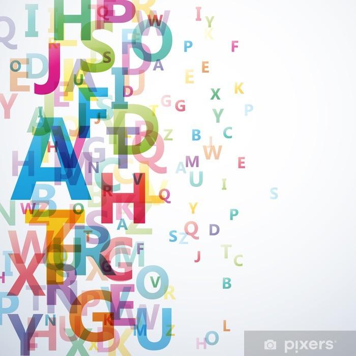 Pixerstick Sticker Abstracte Kleur alfabet op een witte achtergrond # Vector - Bestemmingen