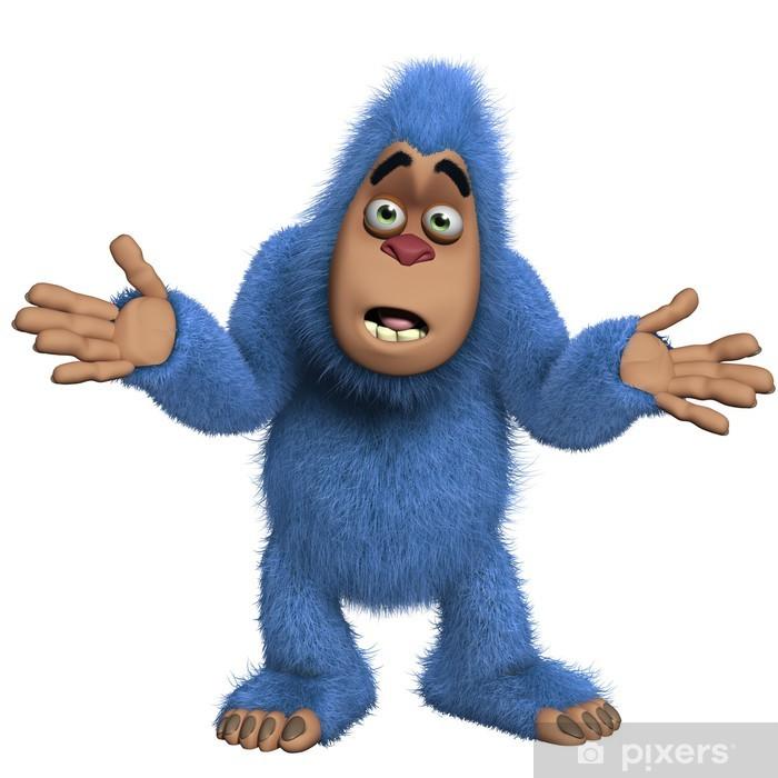 Plakát Blue yeti - Imaginární zvířata