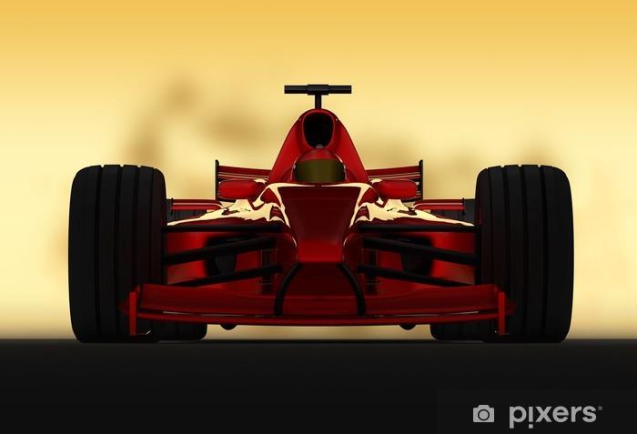 Vinil Duvar Resmi Formel 1 yarışçı frontal -