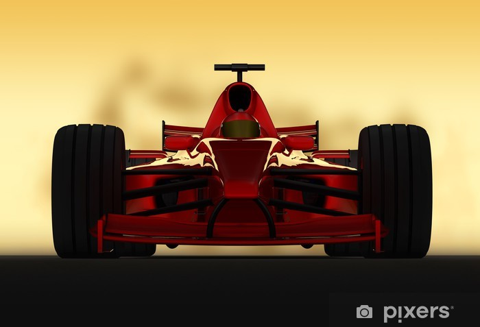 Papier peint vinyle Formule 1 frontale de course - Thèmes