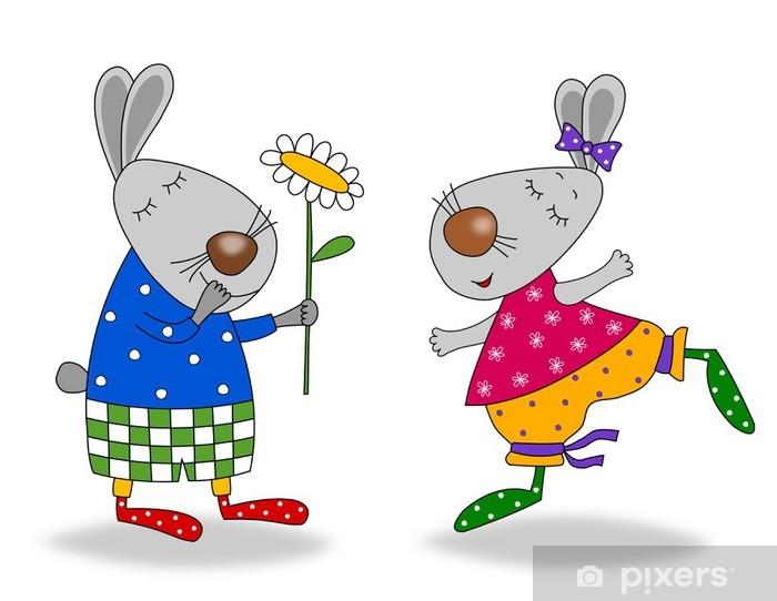 Aufkleber Herzlichen Glückwunsch Zum Geburtstag Comic Figuren Pixerstick