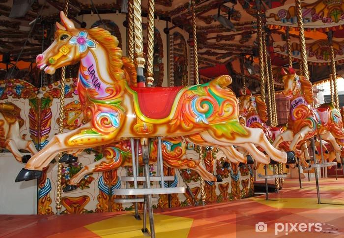 Cardiff Bay carousel Pixerstick Sticker - Games