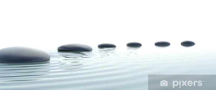 Carta da Parati in Vinile Percorso di pietre zen in formato widescreen - Stili