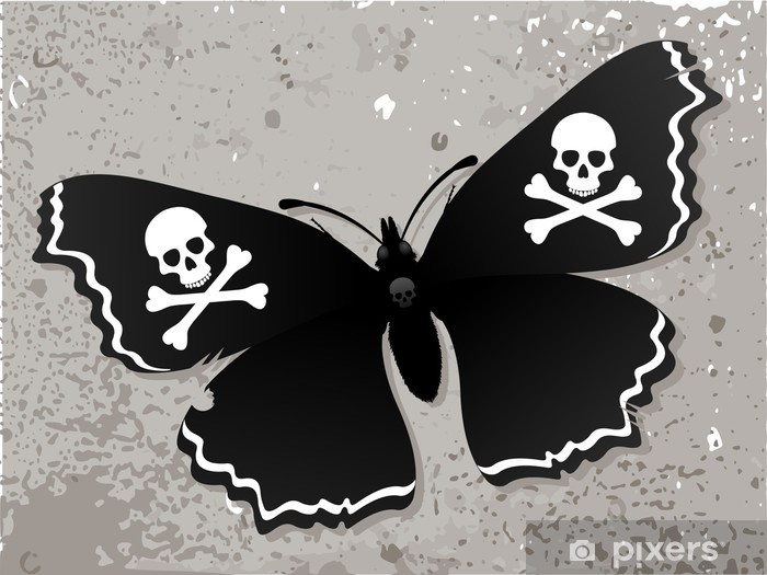 Papier peint Papillon foncé sur le vieux mur • Pixers® - Nous vivons pour  changer