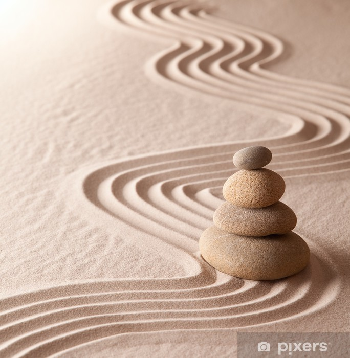 Fototapeta winylowa Ogród zen medytacja - Style