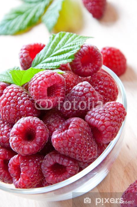 raspberries Vinyl Wall Mural - Fruit