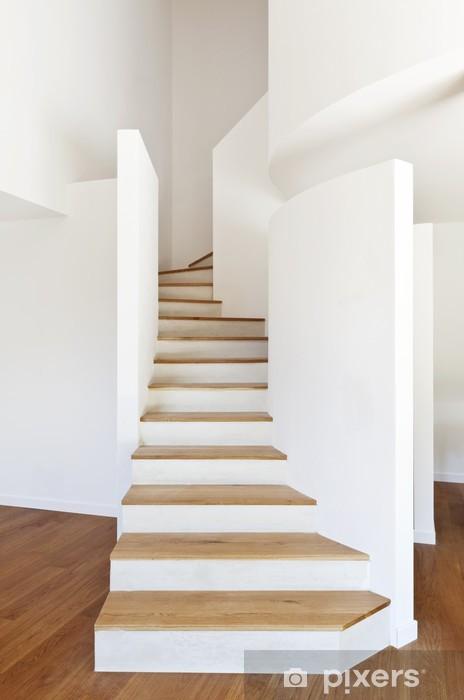 Vinilo Interior De La Casa Moderna Escalera Piso De Parquet Pixerstick