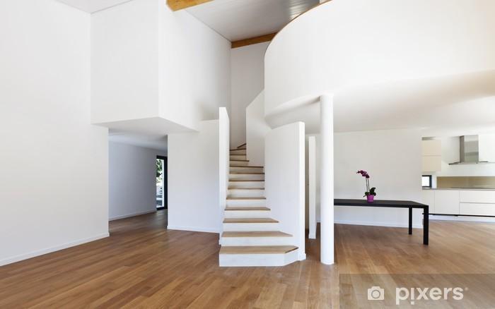 Sticker interieur modern huis een grote open ruimte trap