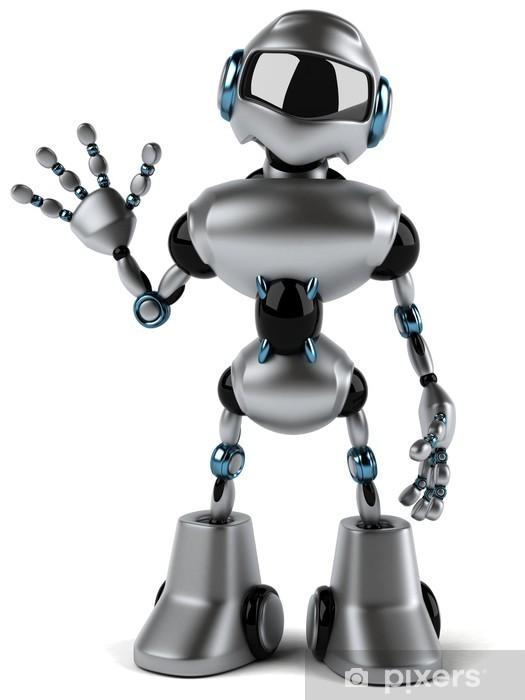 Fototapeta winylowa Robot - Znaki i symbole