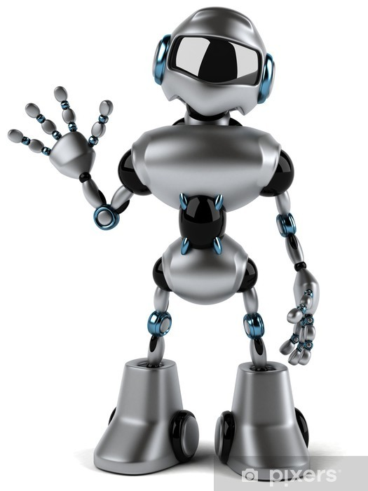 Sticker Pixerstick Robot - Signes et symboles