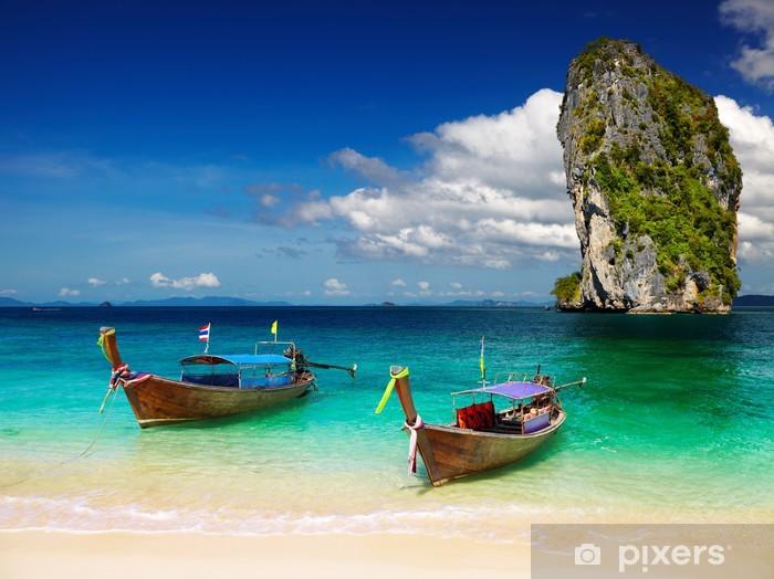 Naklejka Pixerstick Tropikalna plaża, Morzem Andamańskim, Tajlandia - Tematy