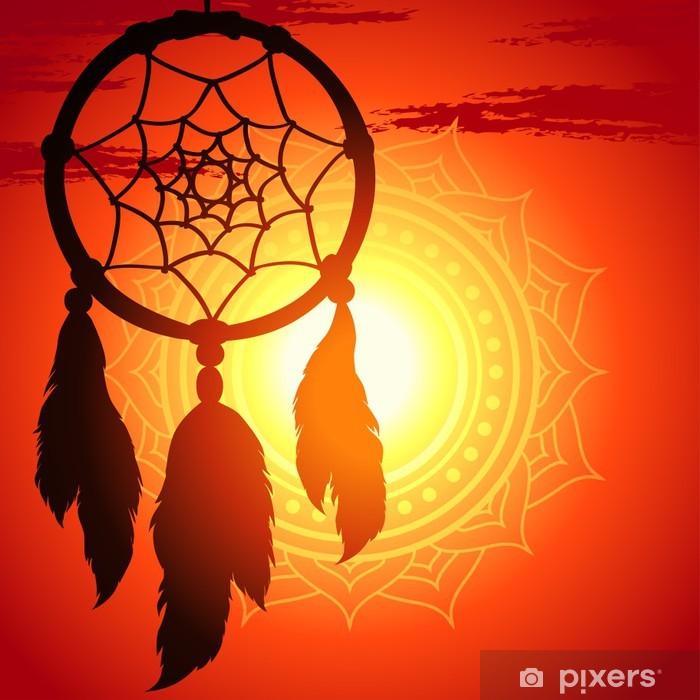 Papier peint vinyle Dream Catcher, silhouette d'une plume sur un coucher de soleil d'arrière-plan - Autres sentiments