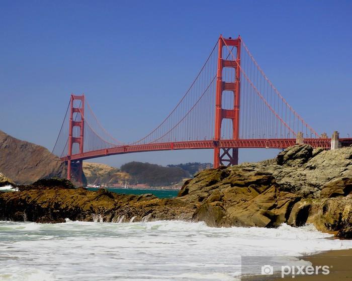 Golden Gate from Baker Beach Pixerstick Sticker - North America