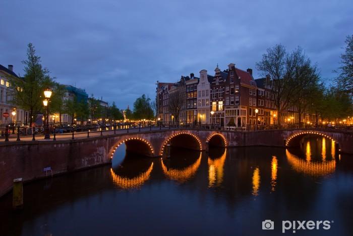 Naklejka Pixerstick Kanałów w Amsterdamie, Holandia - Europa