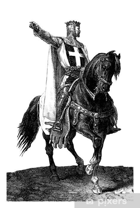 Crusader-King-Knight - 11th century Pixerstick Sticker - People at Work