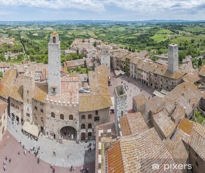 Poster San Gimignano vue générale en Toscane, Italie - Europe