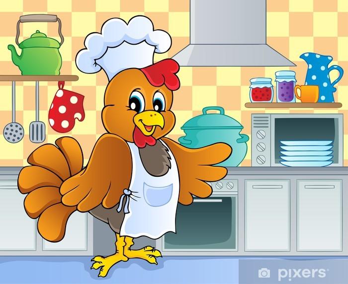 Sticker Pixerstick Image de thème Cuisine 4 - Oiseaux