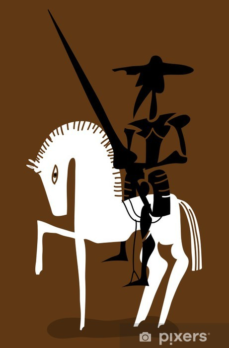 Don quixote and his horse Self-Adhesive Wall Mural - Knights