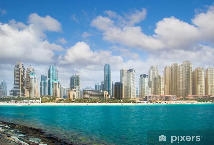 Vinylová fototapeta Město Dubaj, panoramatický výhled. - Vinylová fototapeta