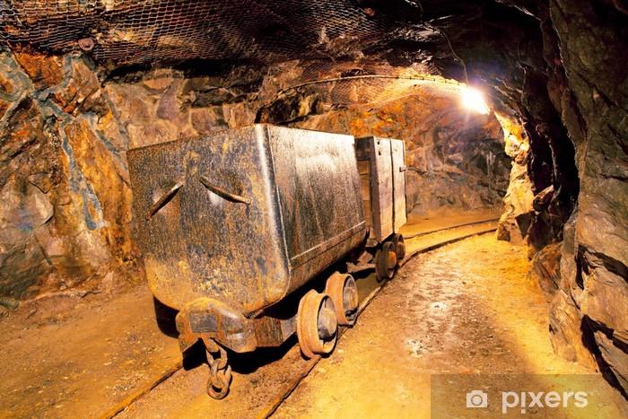 Fototapeta winylowa Koszyk w kopalni złota - underground - Surowce