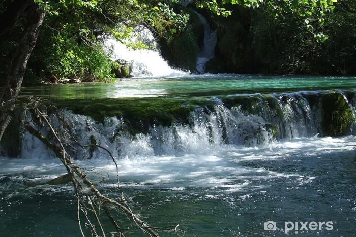 Papier peint vinyle Les lacs de Plitvice (5) - Eau