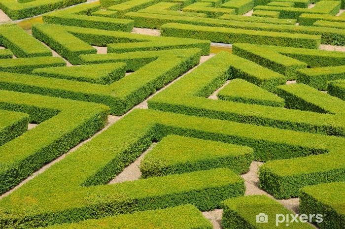 Vinyl-Fototapete Frankreich, Französisch-formalen Garten in der Domaine de Villarceaux - Urlaub