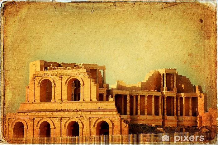 Naklejka Pixerstick Roman Theatre of Sabratah - Libia - Afryka