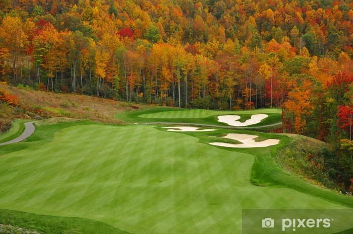 Sticker Pixerstick Automne Mountain Golf Course - Thèmes