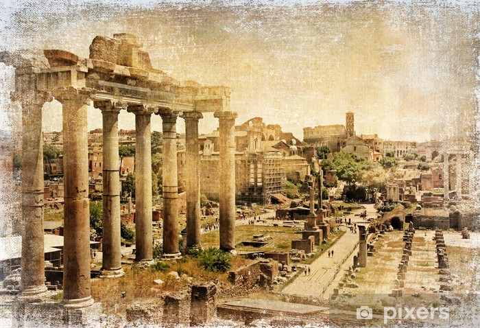 Roman forums - retro picture Vinyl Wall Mural - Themes