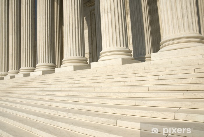 US Supreme Court - Steps and Columns Vinyl Wall Mural - Justice