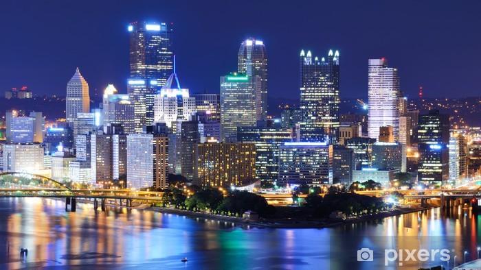 Papier peint vinyle Centre-ville de Pittsburgh Skyline - Thèmes