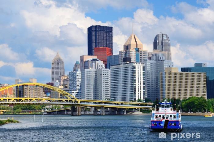 Vinylová fototapeta Pittsburgh Waterfront - Vinylová fototapeta