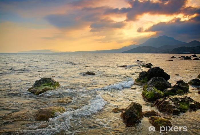 Vinyl-Fototapete Dramatische Meer Sonnenuntergang - Wasser