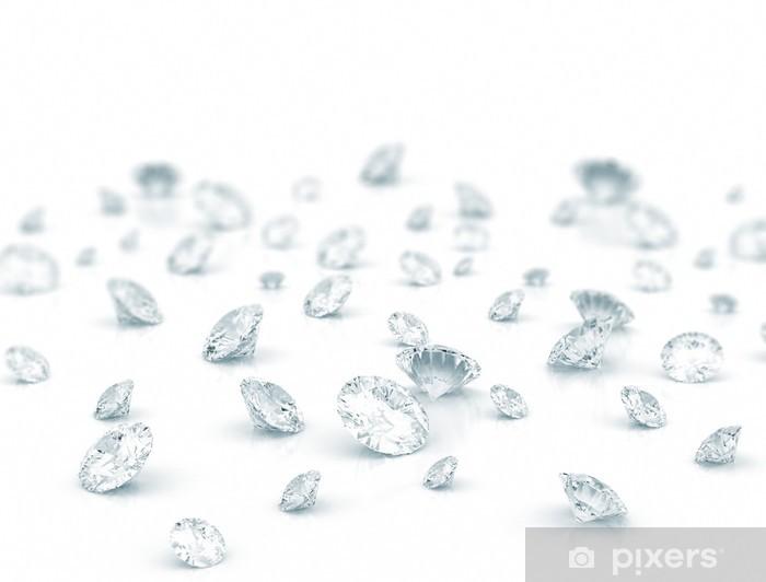 Vinyl-Fototapete Diamanten - Schwerindustrie