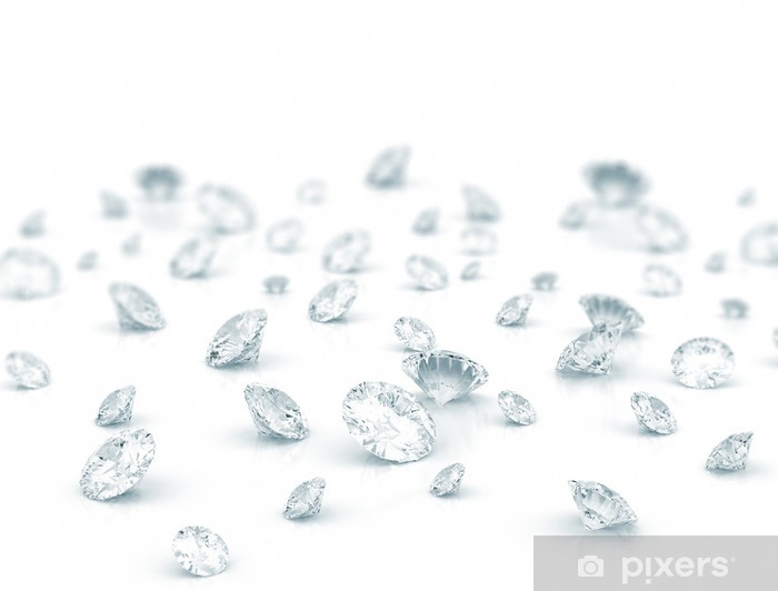 Sticker Pixerstick Diamants - Industrie lourde